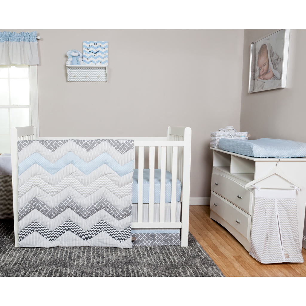 Dove Gray Chevron Diaper Stacker100470$19.99Trend Lab