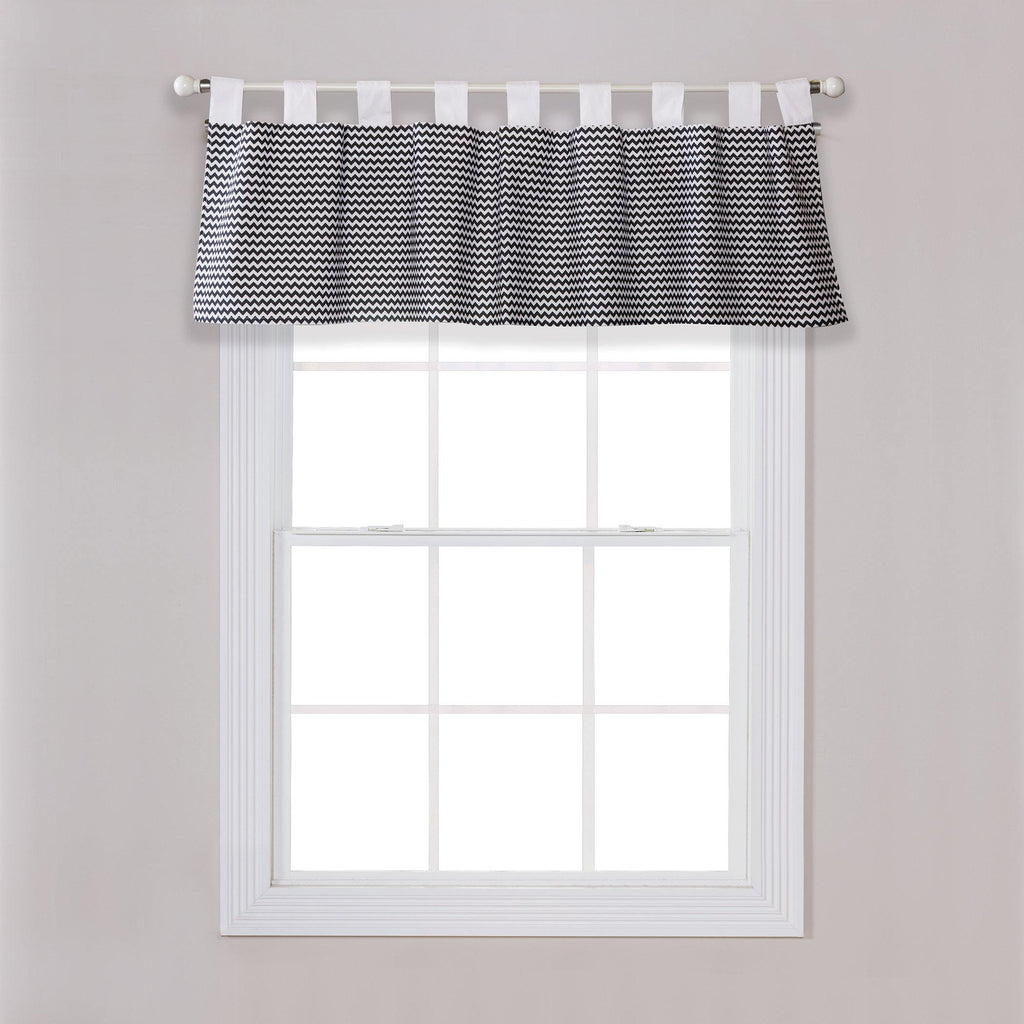 Bedtime Gray Chevron Window Valance Trend Lab, LLC