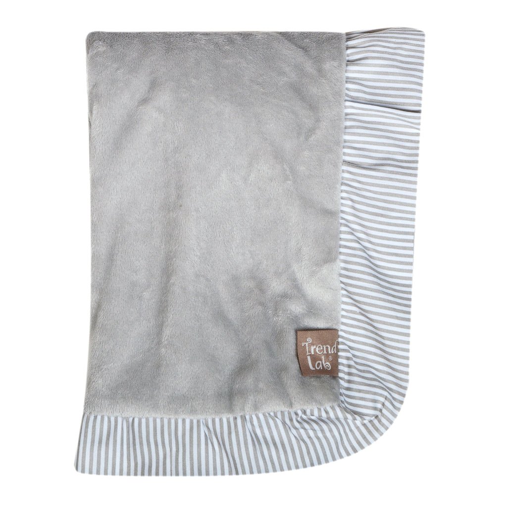 Dove Gray Ruffled Trimmed Receiving Blanket