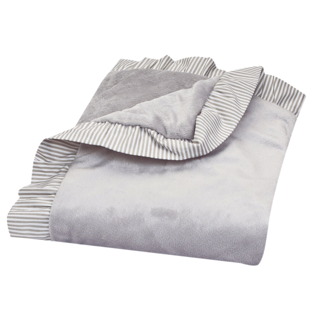 Dove Gray Ruffled Trimmed Receiving Blanket Trend Lab, LLC