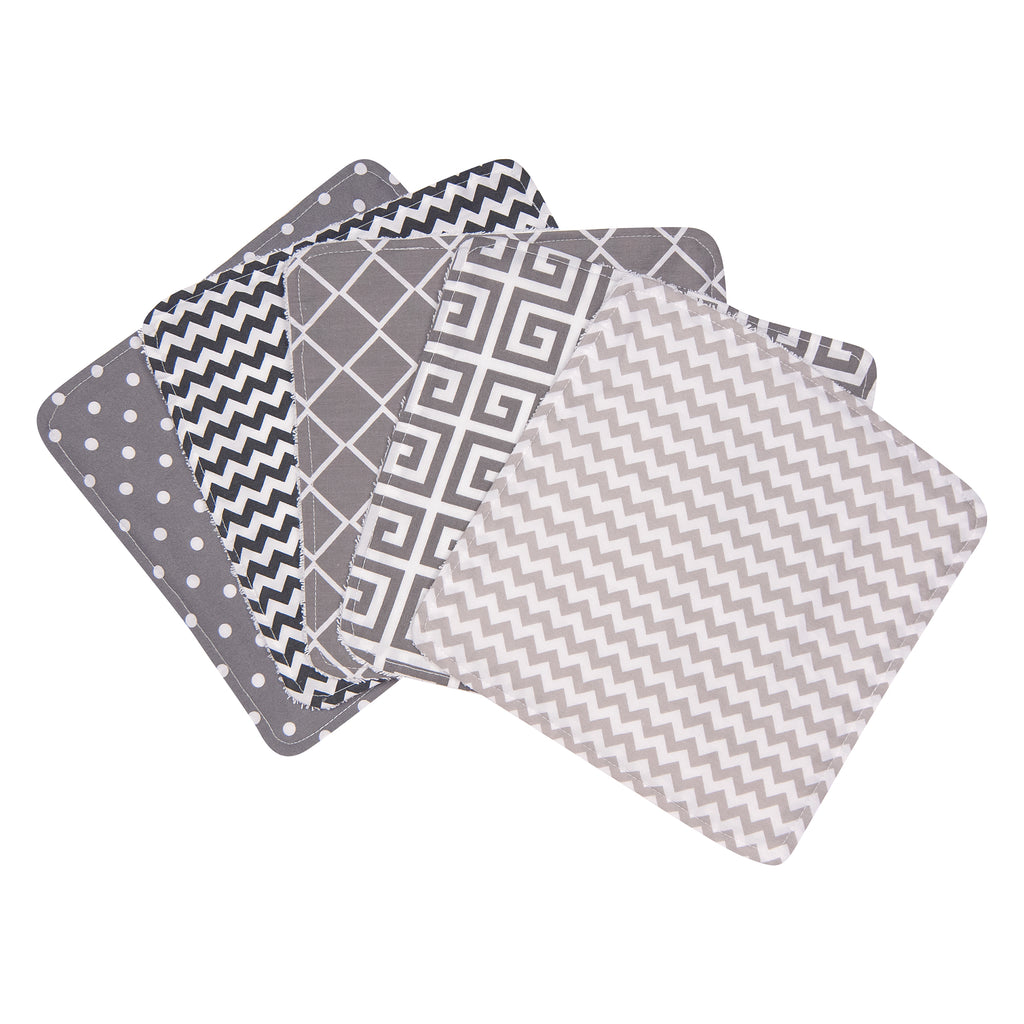 Ombre Gray 5 Pack Wash Cloth Set Trend Lab, LLC