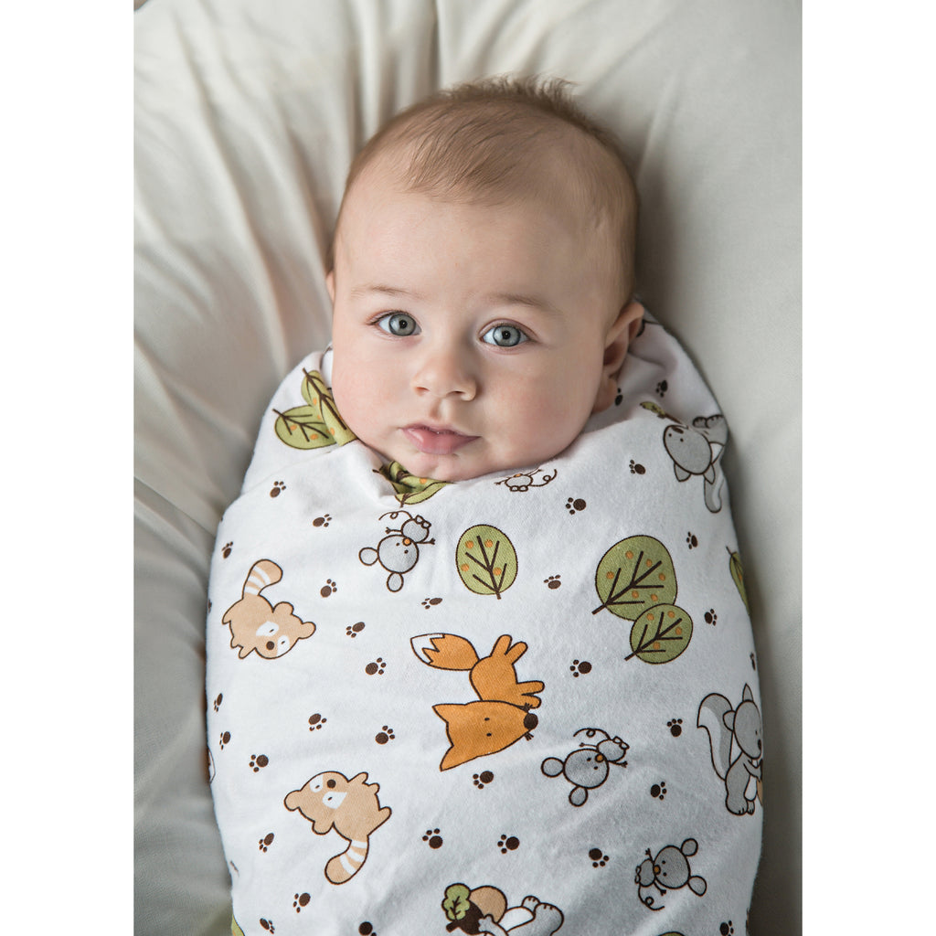 Forest Animal Print Flannel Swaddle Blanket Trend Lab, LLC
