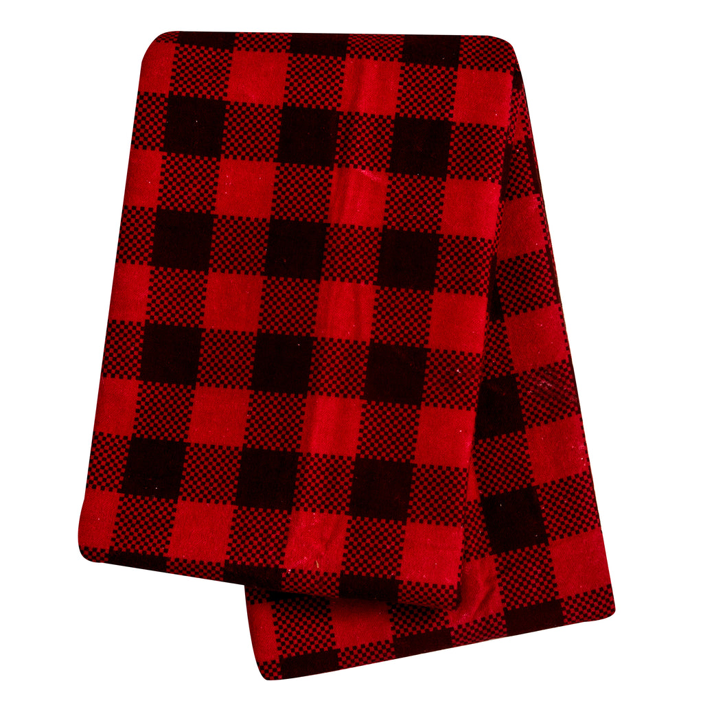 Brown and Red Buffalo Check Deluxe Flannel Swaddle Blanket Trend Lab, LLC