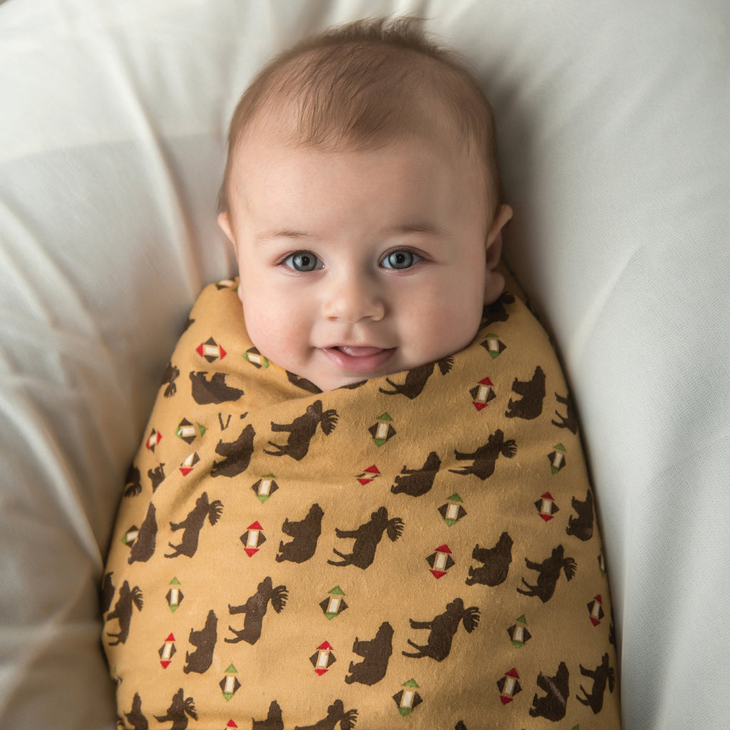 Northwoods Print Flannel Swaddle Blanket100579$12.99Trend Lab