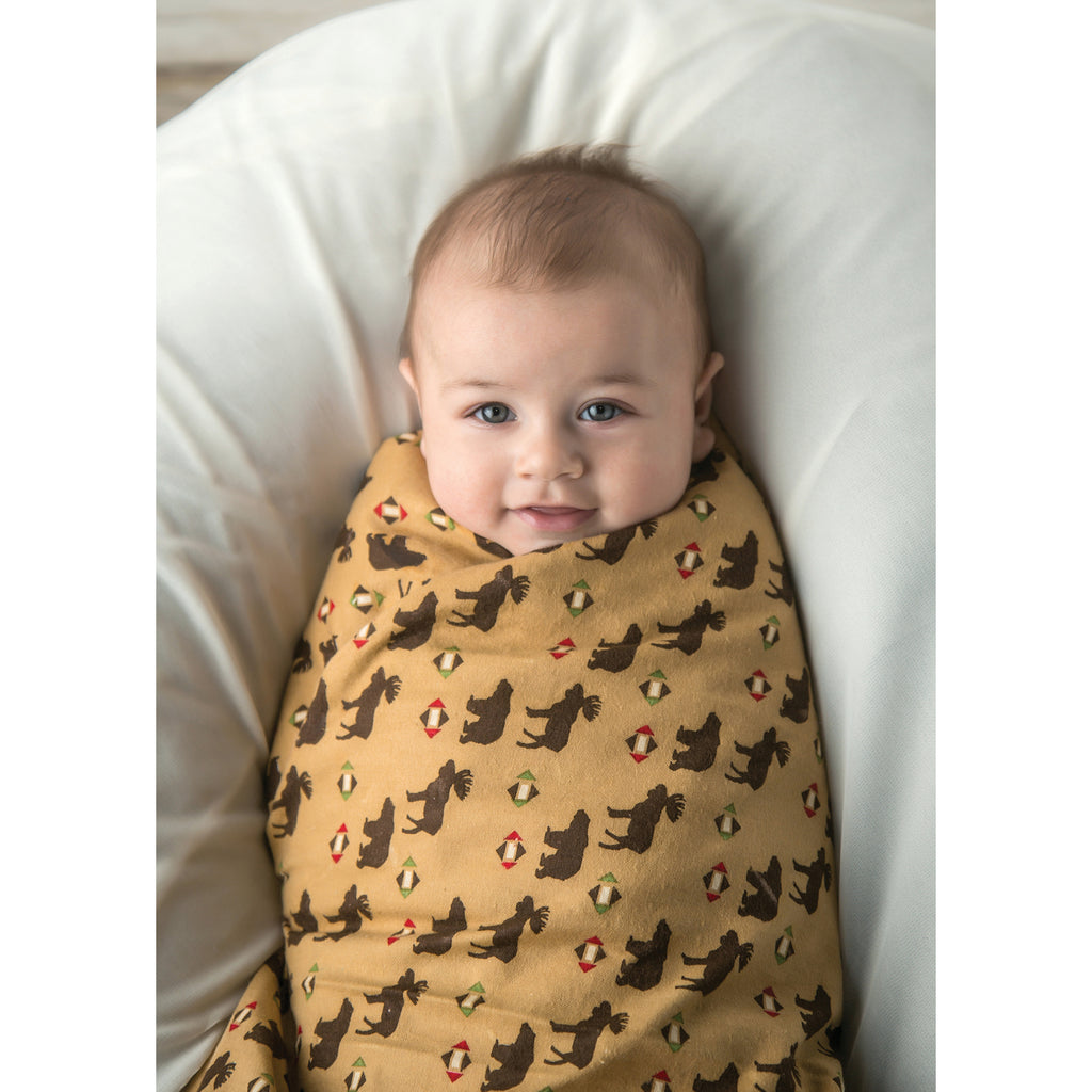 Northwoods Print Flannel Swaddle Blanket