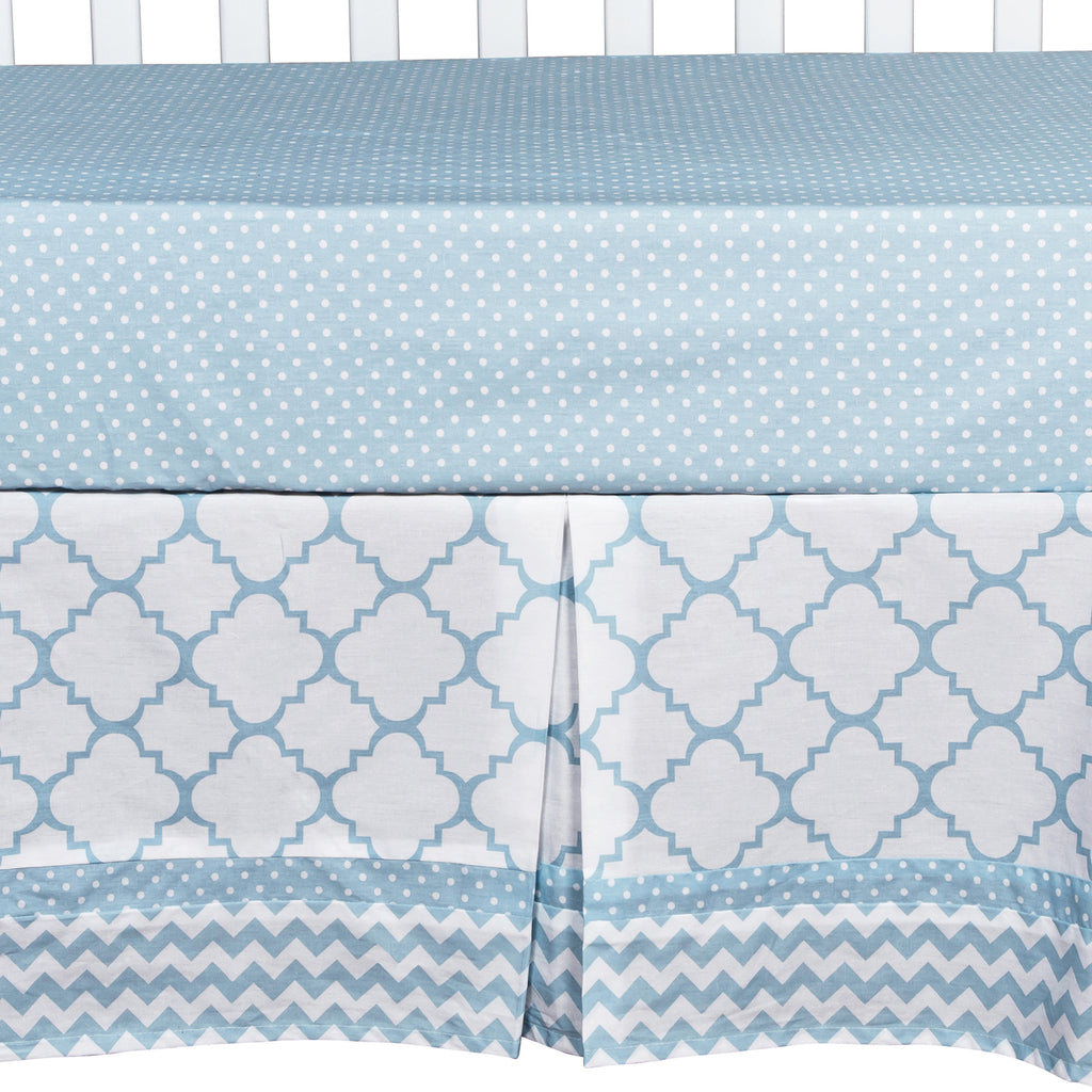 Blue Sky 3 Piece Crib Bedding Set Trend Lab, LLC
