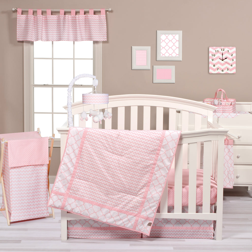 Pink Sky 3 Piece Crib Bedding Set Trend Lab, LLC