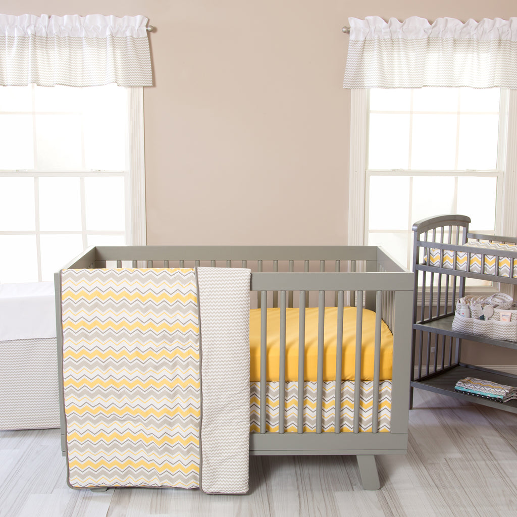 Buttercup Zigzag 3 Piece Crib Bedding Set