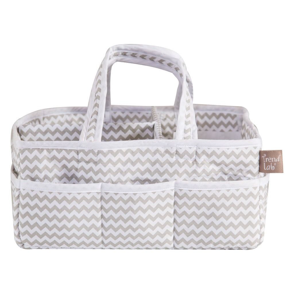 Dove Gray Chevron Storage Caddy Trend Lab, LLC