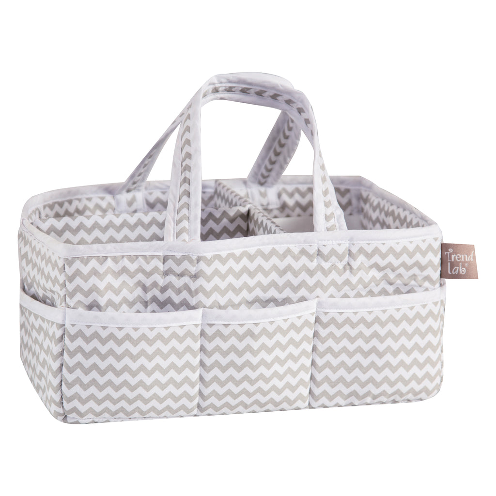 Dove Gray Chevron Storage Caddy100906$24.99Trend Lab