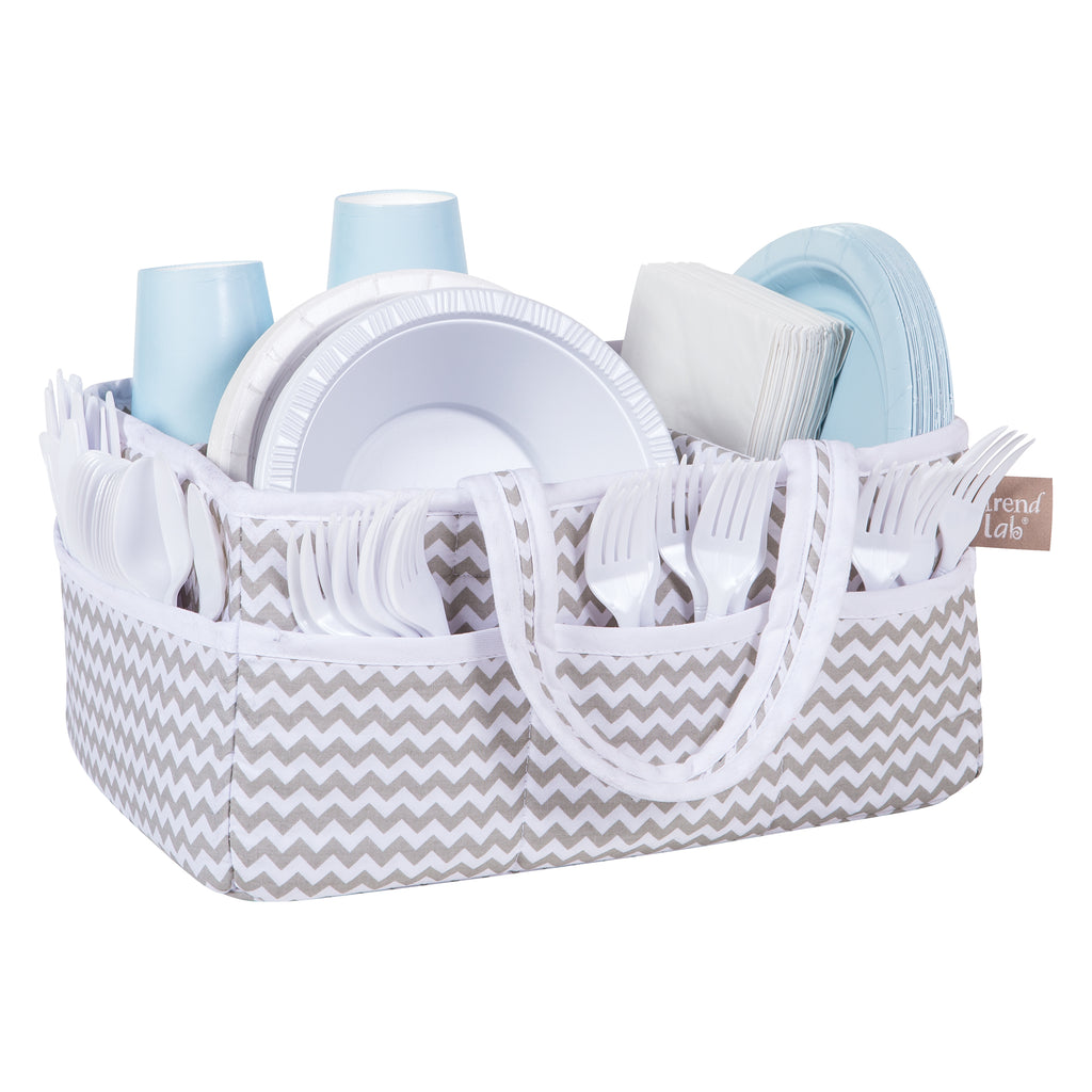 Dove Gray Chevron Storage Caddy Storage Trend Lab Llc