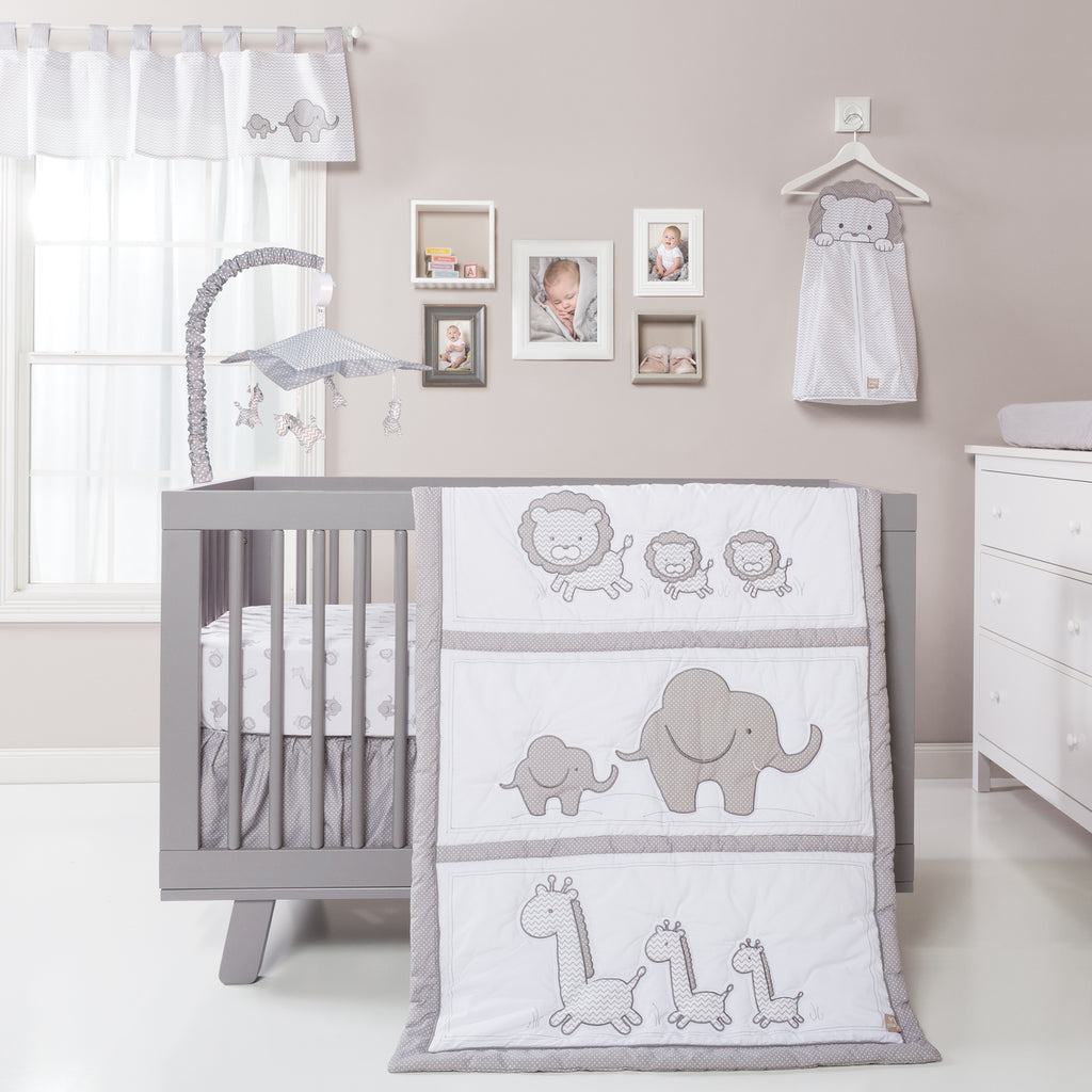 Safari Chevron 3 Piece Crib Bedding Set Trend Lab, LLC