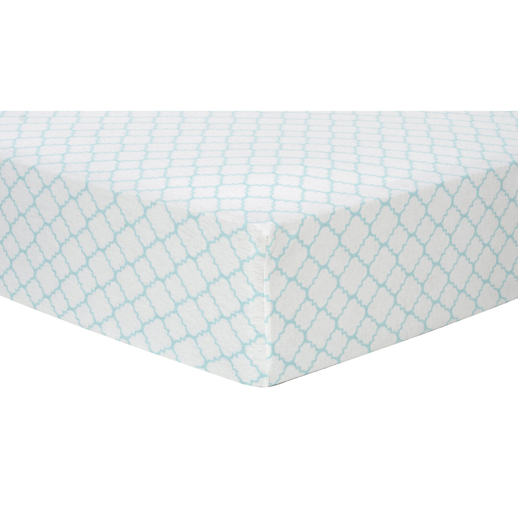 Mint Quatrefoil Deluxe Flannel Fitted Crib Sheet101240$17.99Trend Lab