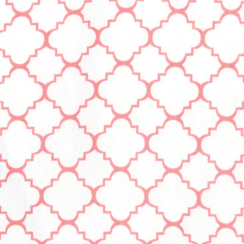Coral Quatrefoil Deluxe Flannel Fitted Crib Sheet101244$17.99Trend Lab