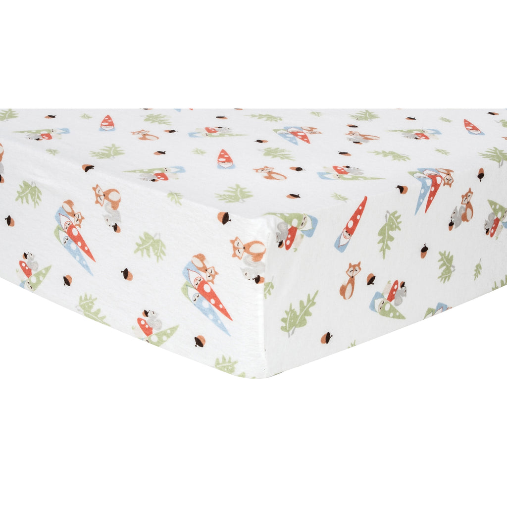 Forest Gnomes Deluxe Flannel Fitted Crib Sheet Trend Lab, LLC