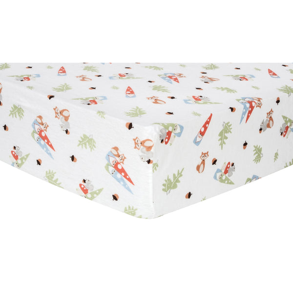 Forest Gnomes Deluxe Flannel Fitted Crib Sheet Bedding And