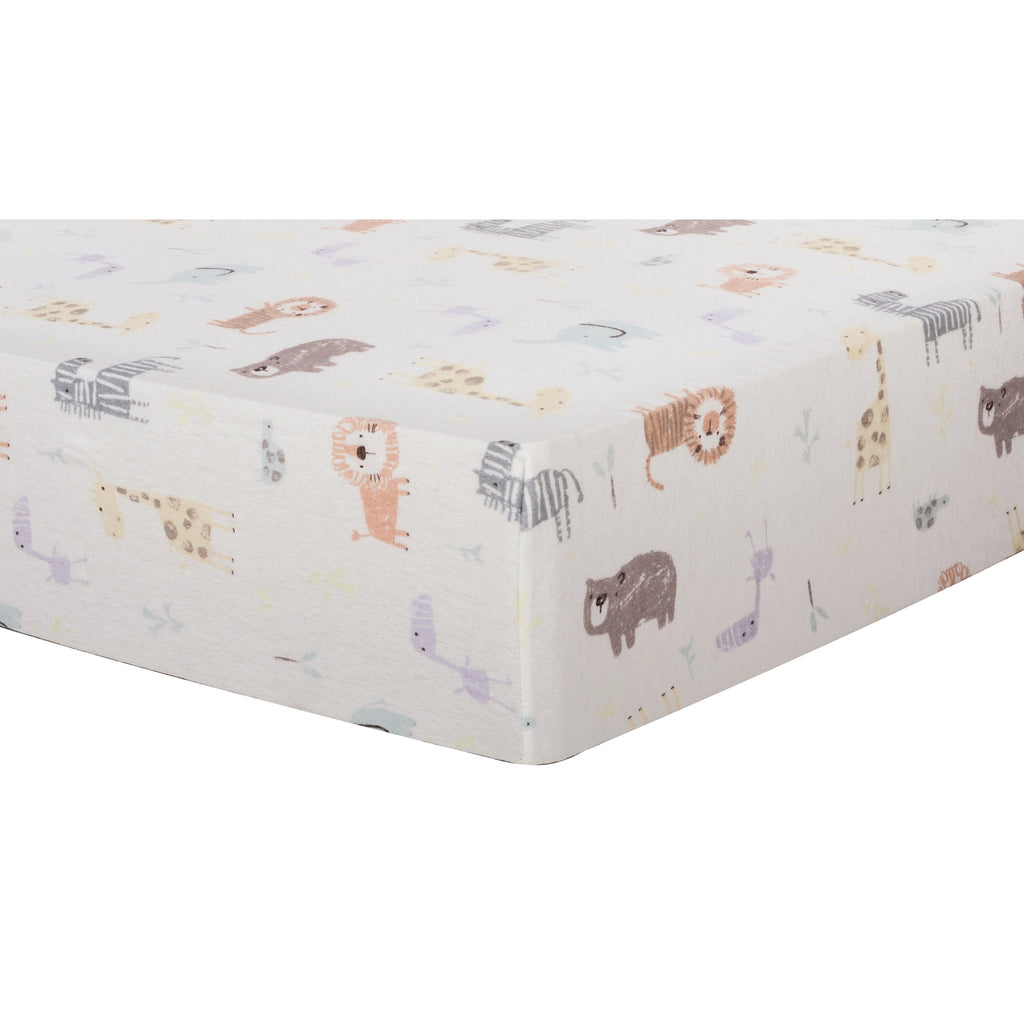 Crayon Jungle Deluxe Flannel Fitted Crib Sheet Trend Lab, LLC