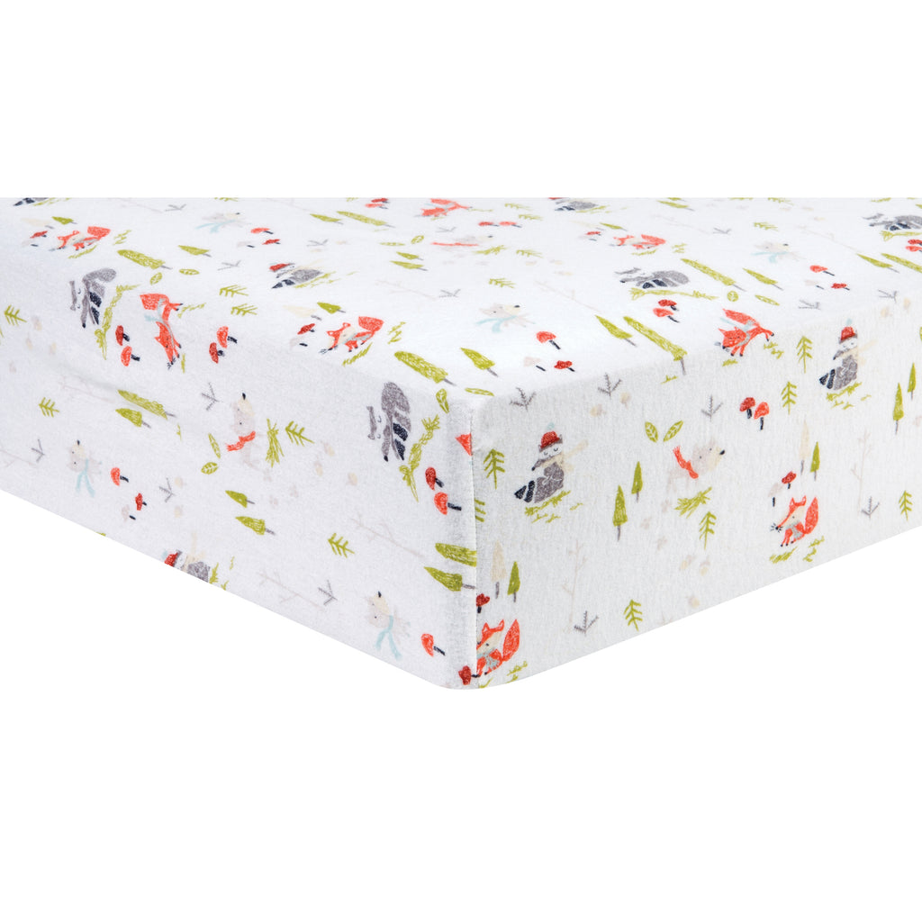 Winter Woods Deluxe Flannel Fitted Crib Sheet Trend Lab, LLC