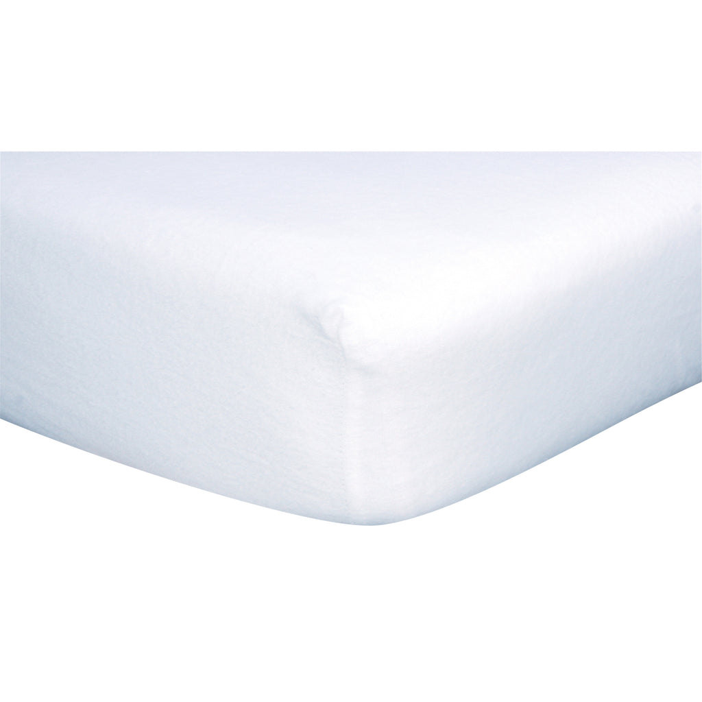 White Deluxe Flannel Fitted Crib Sheet Trend Lab, LLC