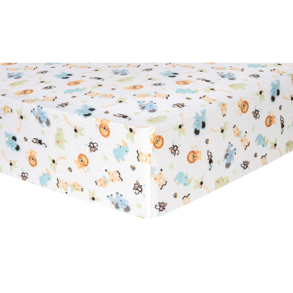 Jungle Friends Deluxe Flannel Fitted Crib Sheet101329$17.99Trend Lab