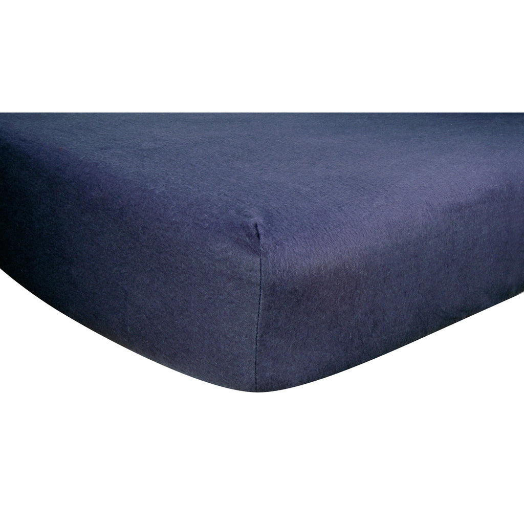 Navy Blue Deluxe Flannel Fitted Crib Sheet Trend Lab, LLC
