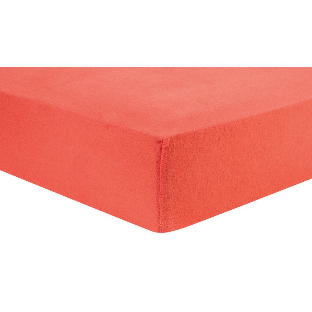 Coral Deluxe Flannel Fitted Crib Sheet101375$17.99Trend Lab
