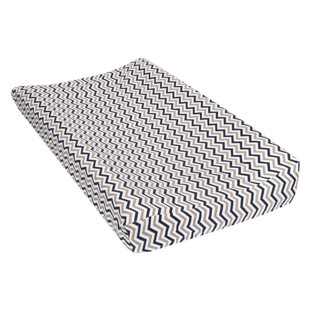 Navy and Gray Chevron Flannel Changing Pad Cover Trend Lab, LLC