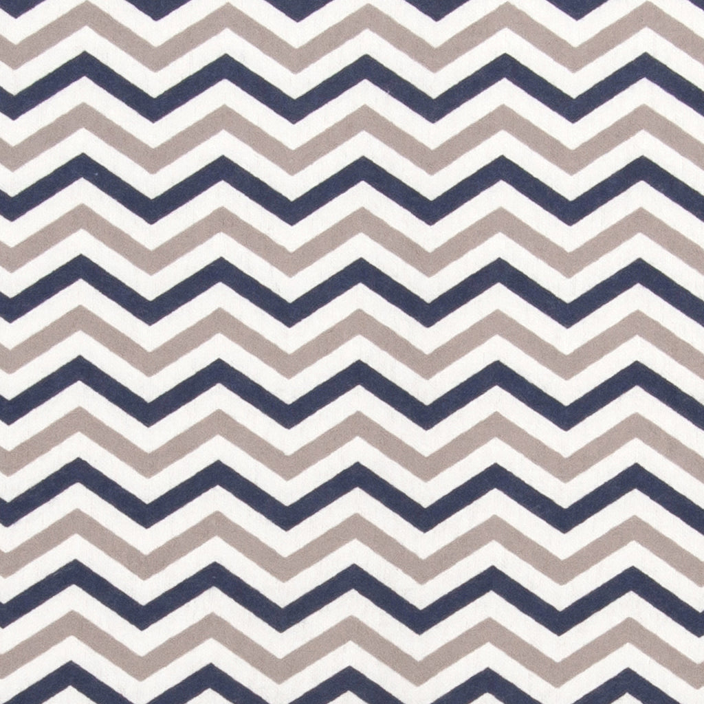Navy and Gray Chevron Flannel Changing Pad Cover