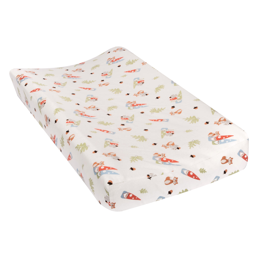 Forest Gnomes Flannel Changing Pad Cover