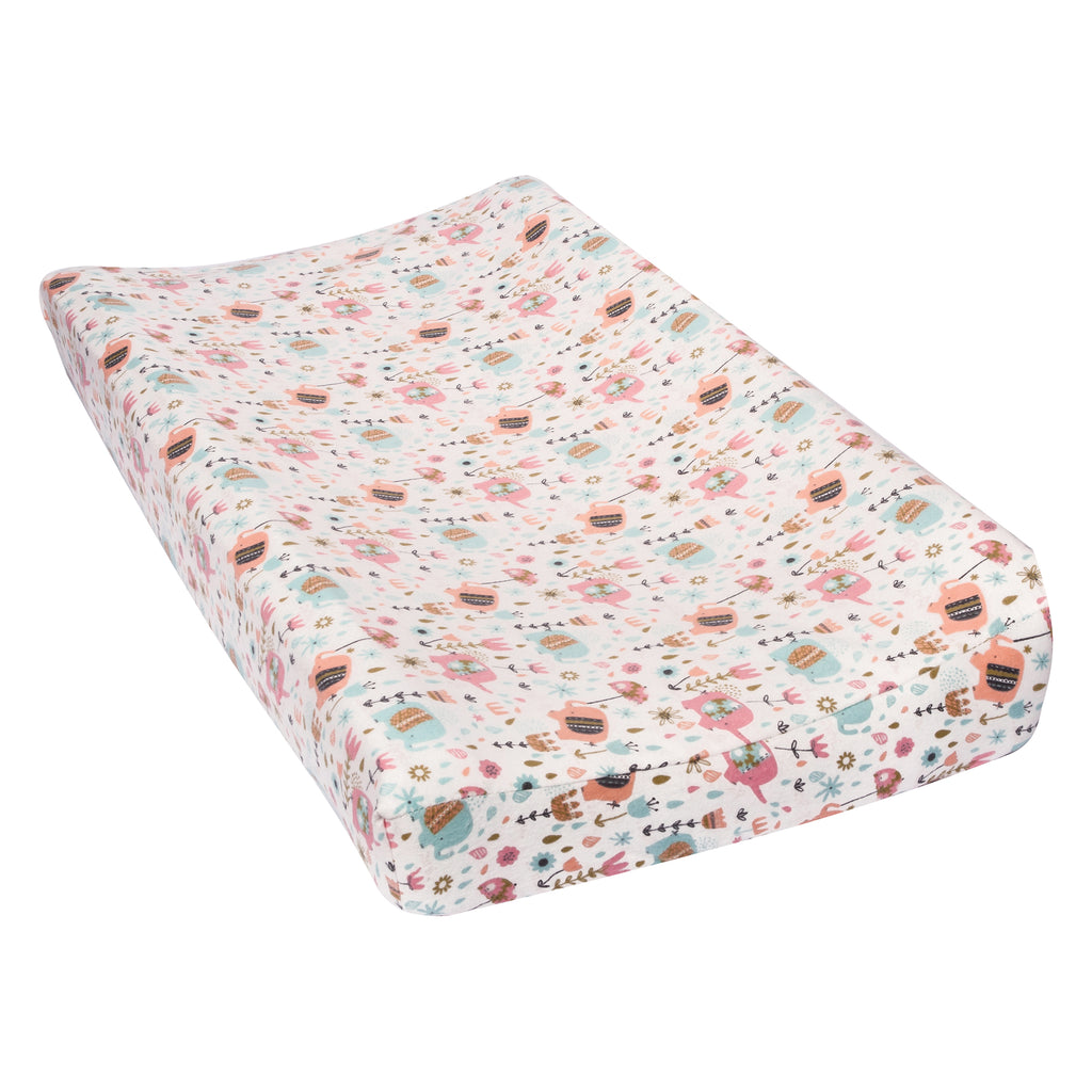 Playful Elephants Flannel Changing Pad Cover Trend Lab, LLC
