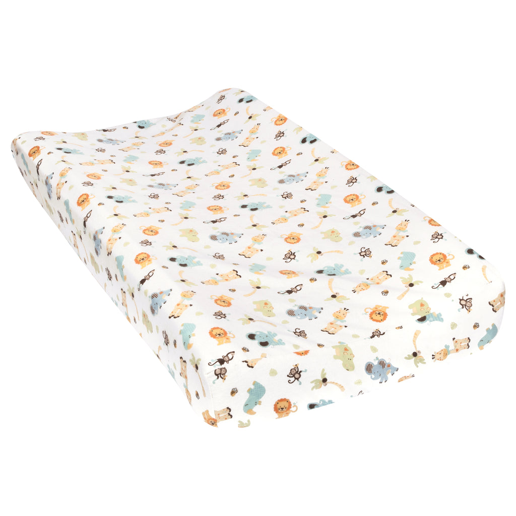 Jungle Friends Flannel Changing Pad Cover Trend Lab, LLC