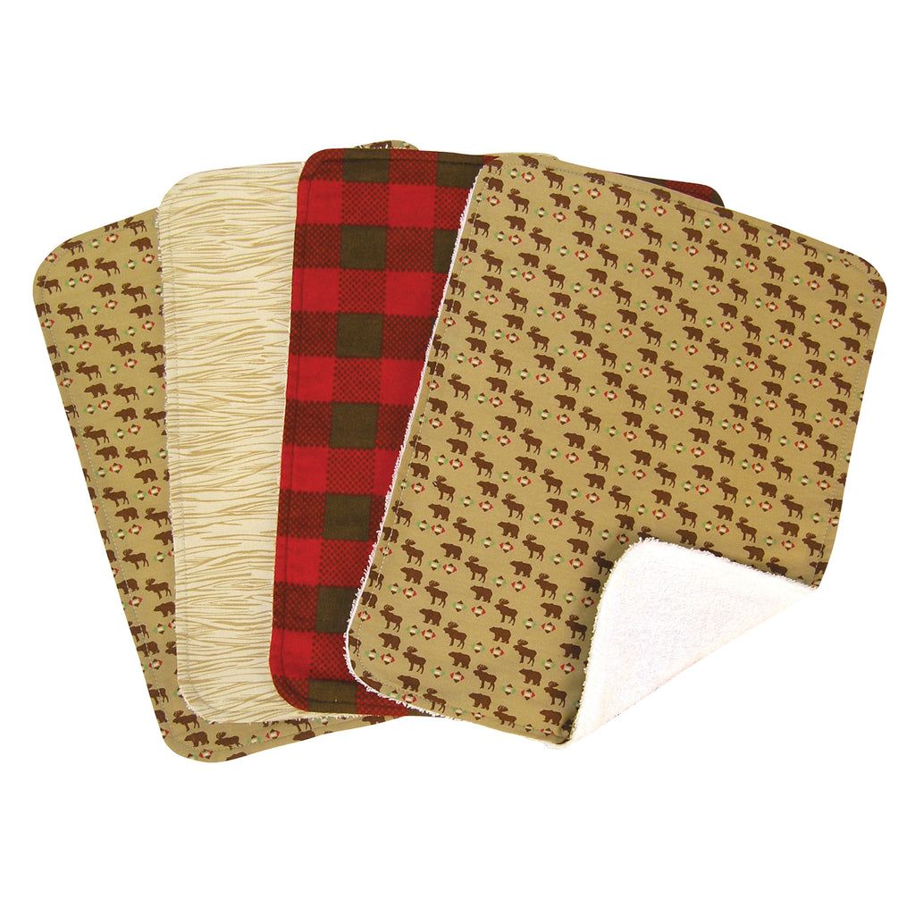 Northwoods 4 Pack Burp Cloth Set Trend Lab, LLC
