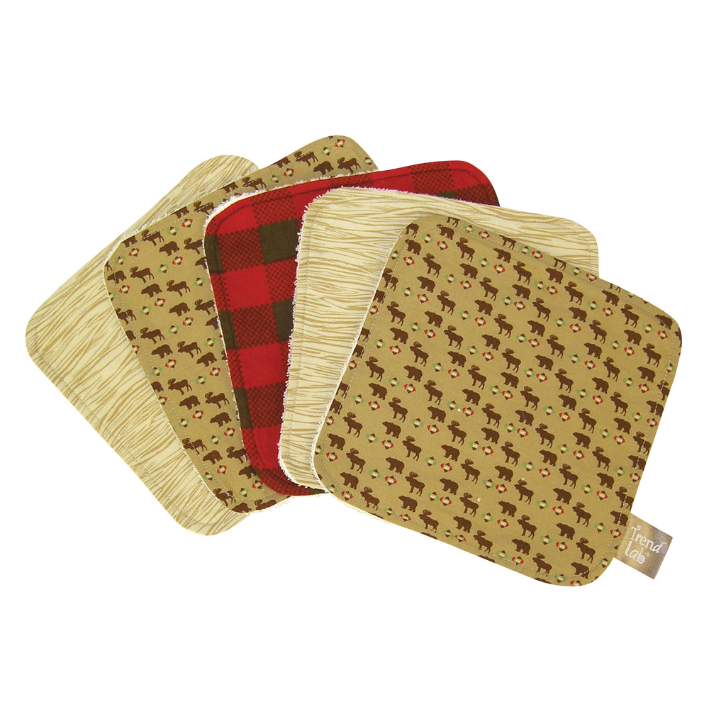 Northwoods 5 Pack Wash Cloth Set Trend Lab, LLC