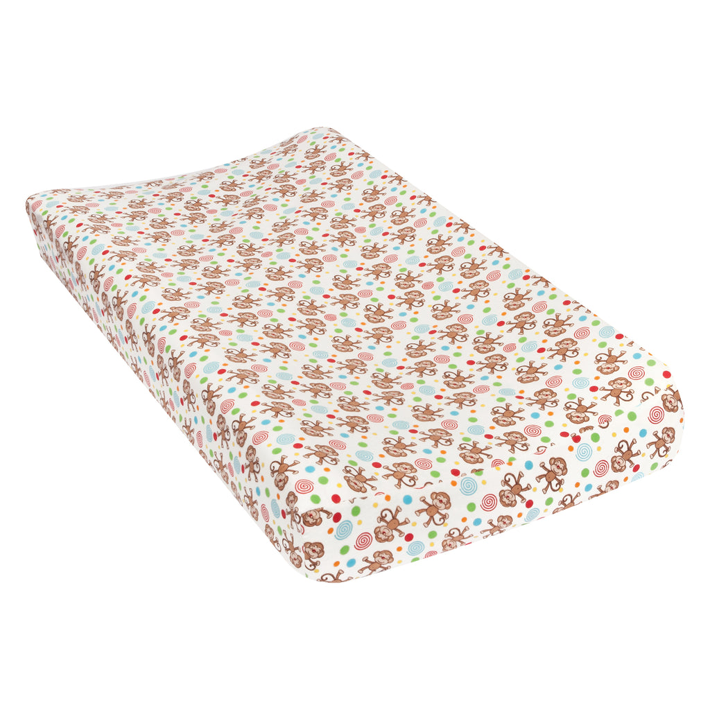 Monkeys Deluxe Flannel Changing Pad Cover Trend Lab, LLC