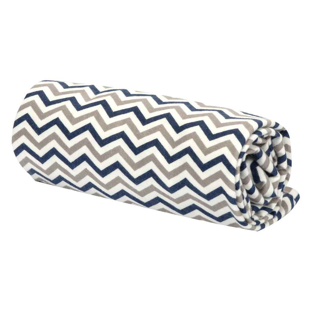 Navy & Gray Chevron Flannel Swaddle Blanket101493$12.99Trend Lab