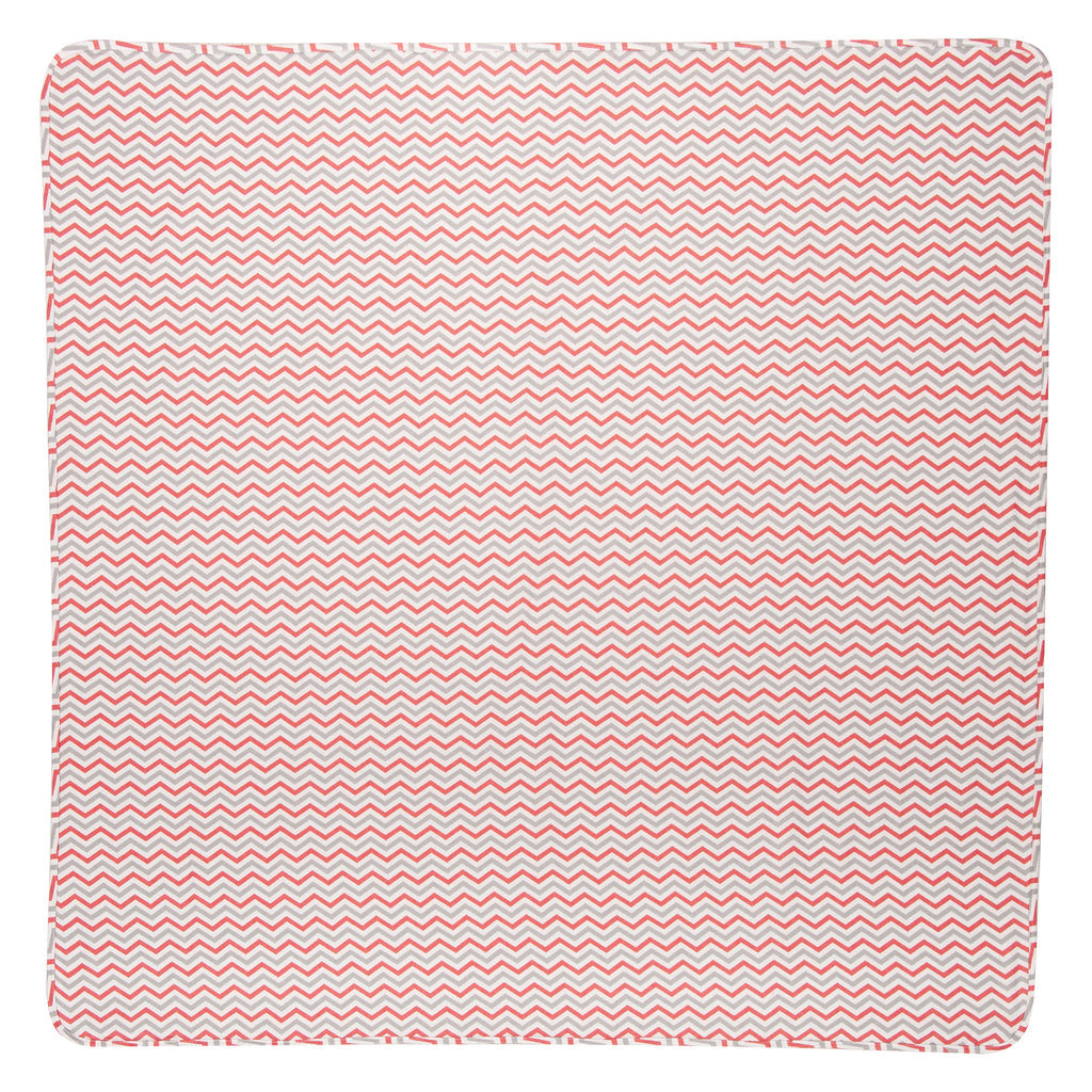 Coral & Gray Jumbo Deluxe 100% Cotton Flannel Swaddle Blanket Trend Lab, LLC