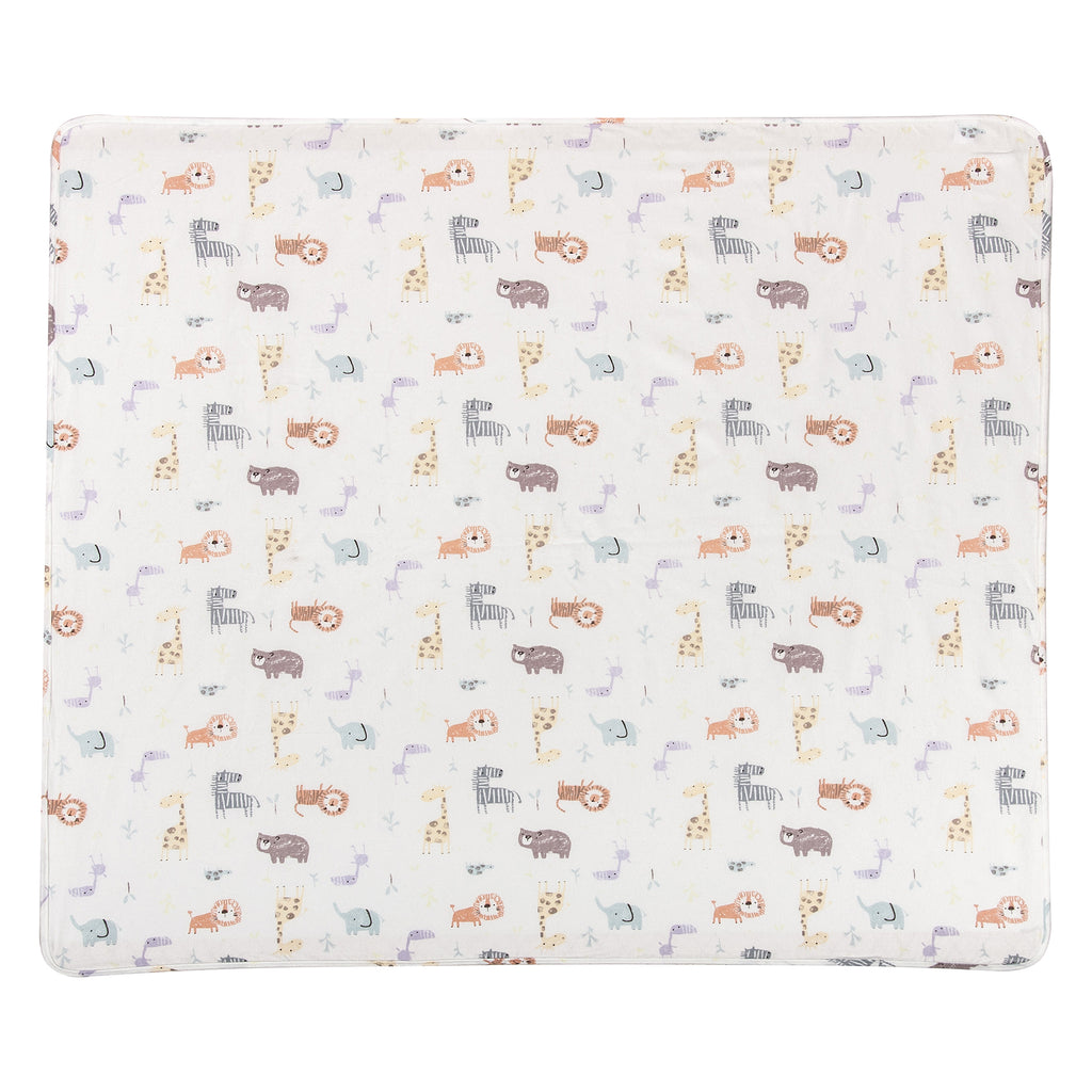 Crayon Jungle Flannel Swaddle Blanket