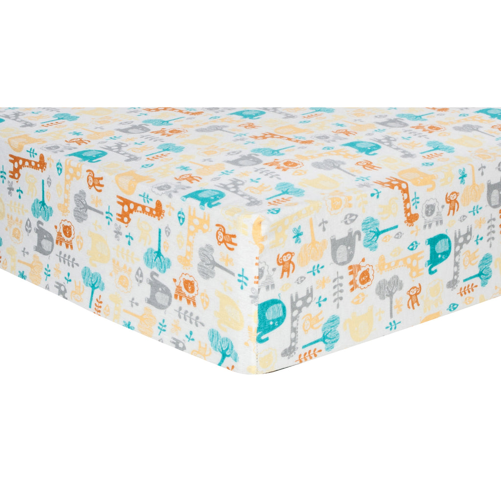 Lullaby Zoo Deluxe Flannel Fitted Crib Sheet Trend Lab, LLC
