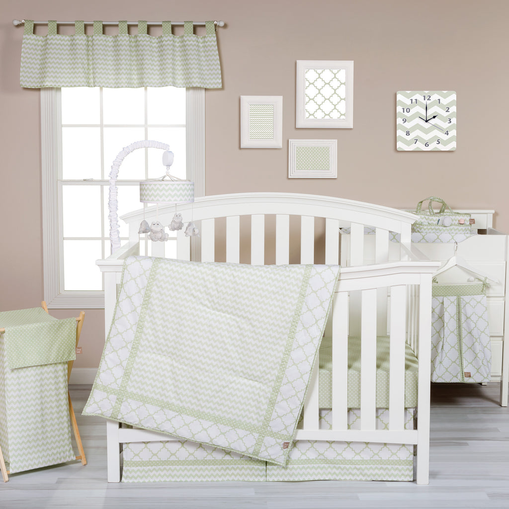 Sea Foam 3 Piece Crib Bedding Set Trend Lab, LLC