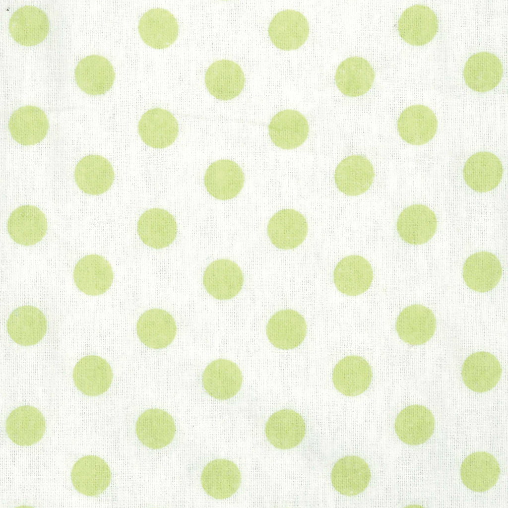 Sage Green and White Dot Deluxe Flannel Fitted Crib Sheet