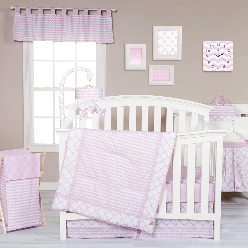 Orchid Bloom 3 Piece Crib Bedding Set