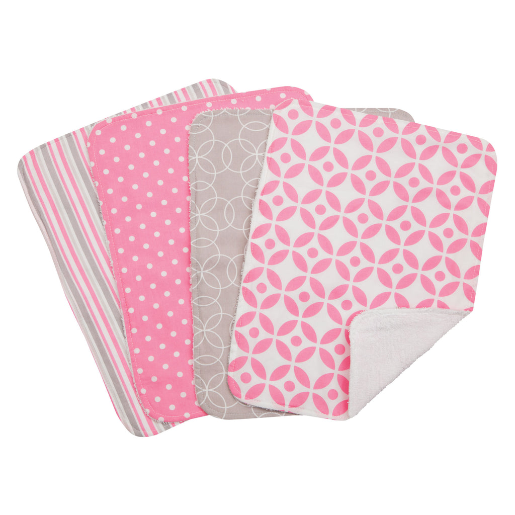 Lily 4 Pack Burp Cloth Set Trend Lab, LLC