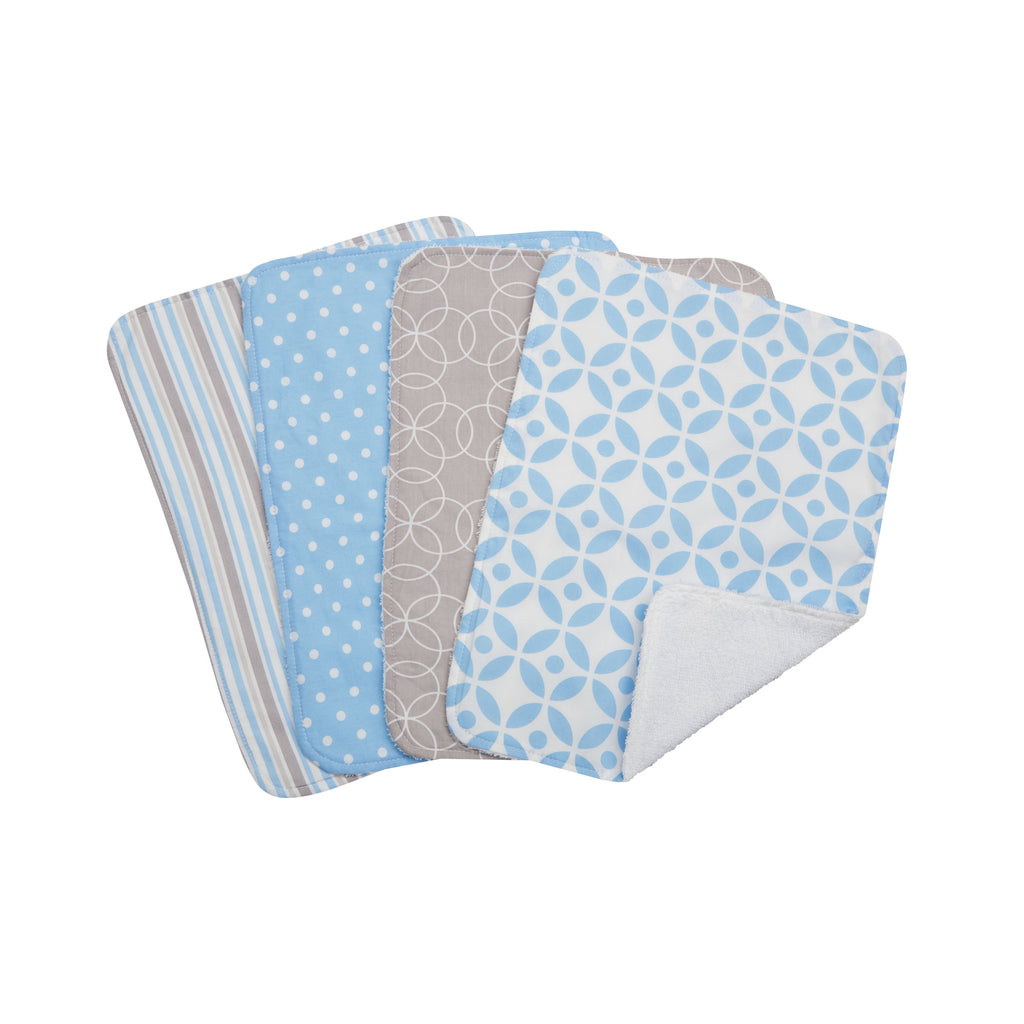 Logan 4 Pack Burp Cloth Set Trend Lab, LLC