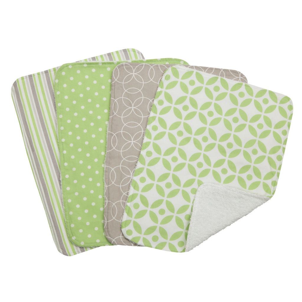 Lauren 4 Pack Burp Cloth Set Trend Lab, LLC