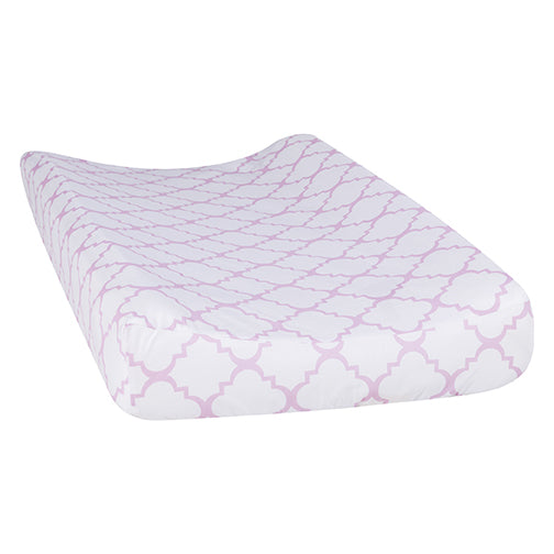 Orchid Bloom Quatrefoil Changing Pad Cover101751$14.99Trend Lab