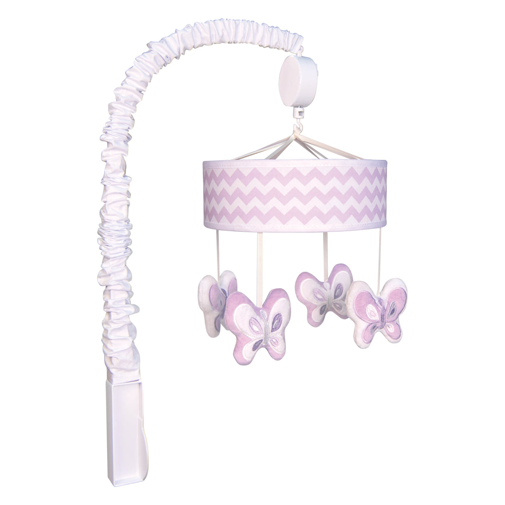 Orchid Bloom Musical Crib Mobile