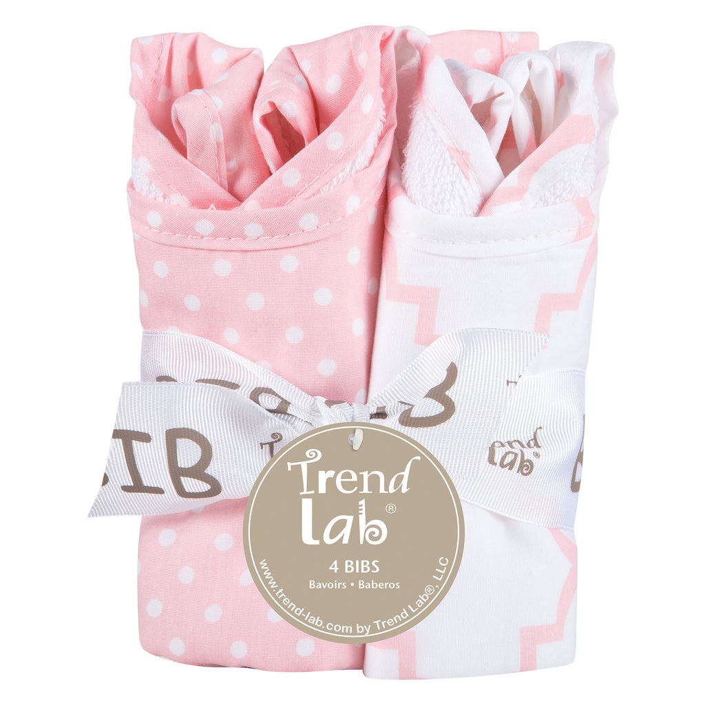 Pink Sky 4 Pack Bib Set Trend Lab, LLC