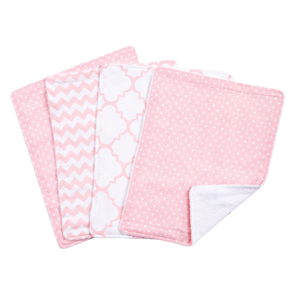 Pink Sky 4 Pack Burp Cloth Set Trend Lab, LLC