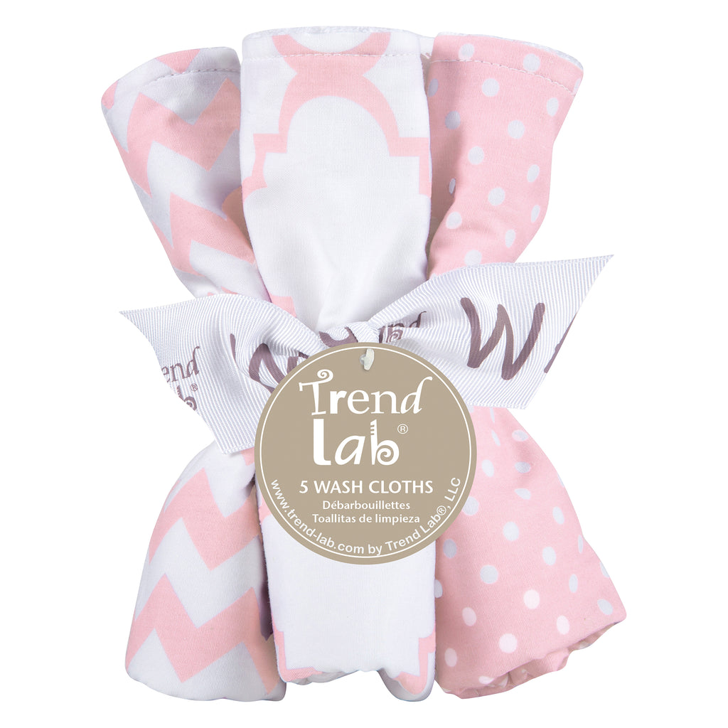 Pink Sky 5 Pack Wash Cloth Set Trend Lab, LLC