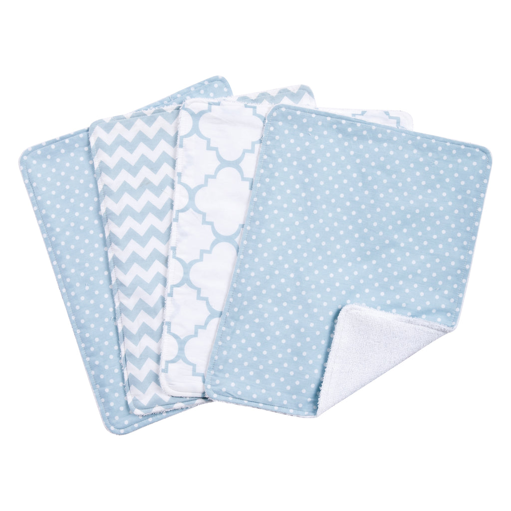 Blue Sky 4 Pack Burp Cloth Set Trend Lab, LLC